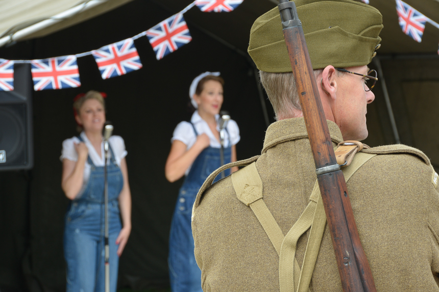 World War reenactment event at Coleshill National Trust estate