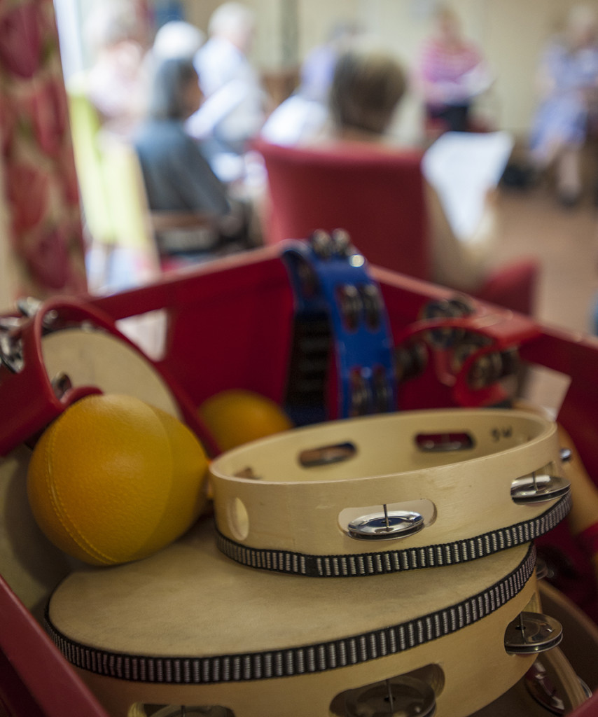 Musical activity at dementia care home