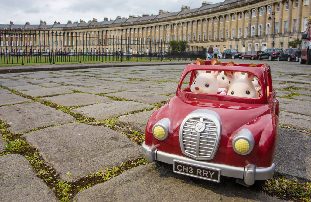 Sylvanian Families enjoying the sights in Bath - social media advertising and PR campaign