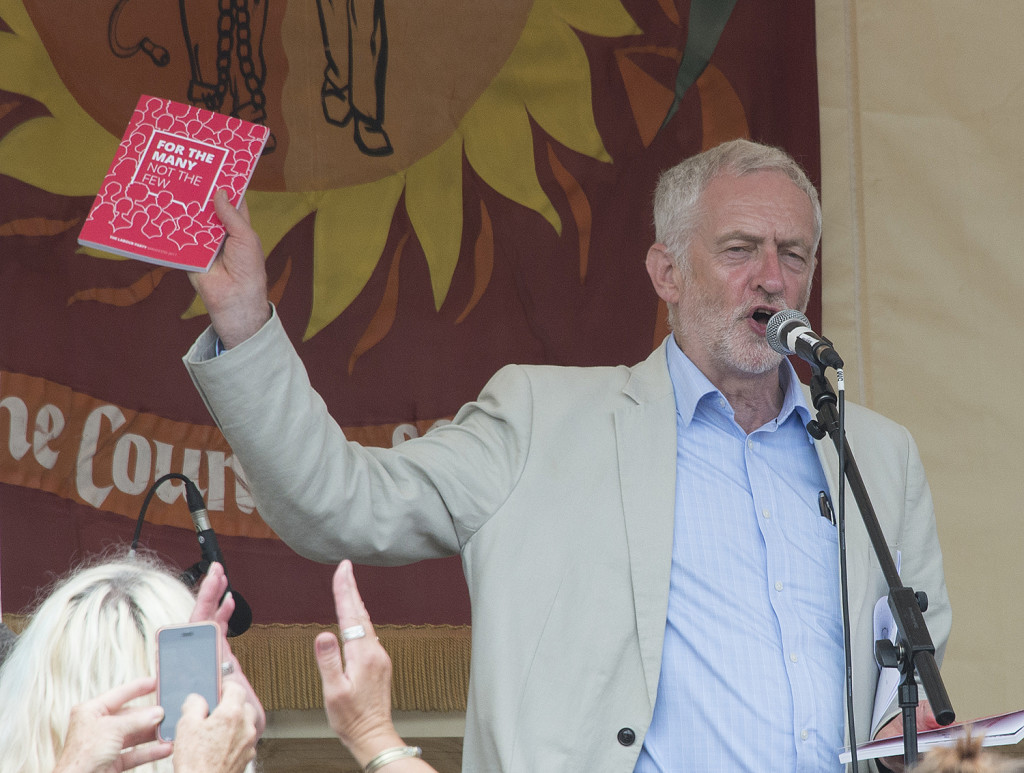 trade union photography - Jeremy Corbyn at TUC Tolpuddle Festival