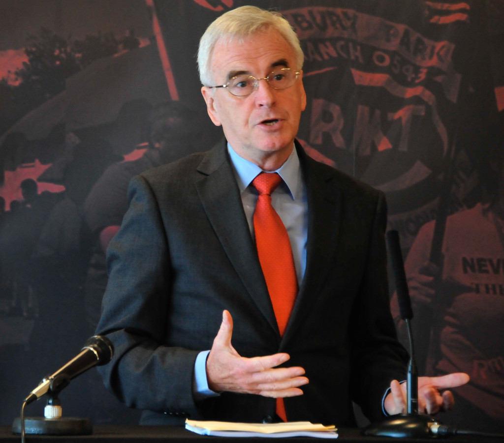 trade union photography - Guest speaker at trade union  conference - John McDonnell
