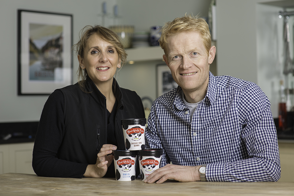 Will and Dawn Hawking, owners of Marshfield Farm Ice Cream