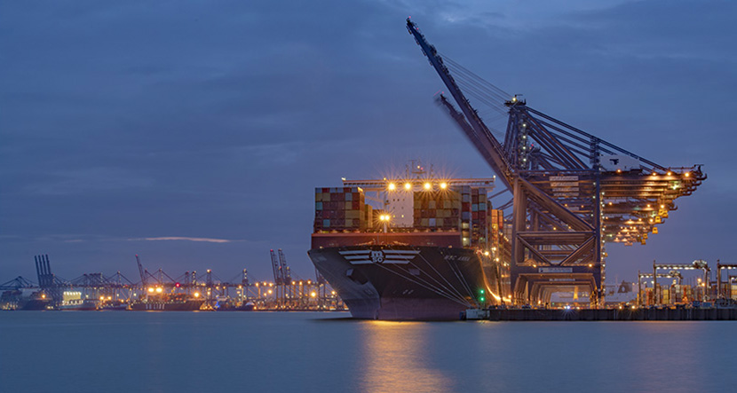MSC Anna about to set sail from Felixtowe
