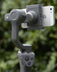Using a gimbal to stabilise video on smartphone