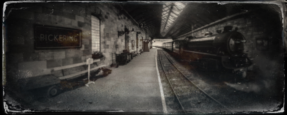 Panoramic picture of Pickering Station taken with iPhone and processed with TinType. Panoramic photography