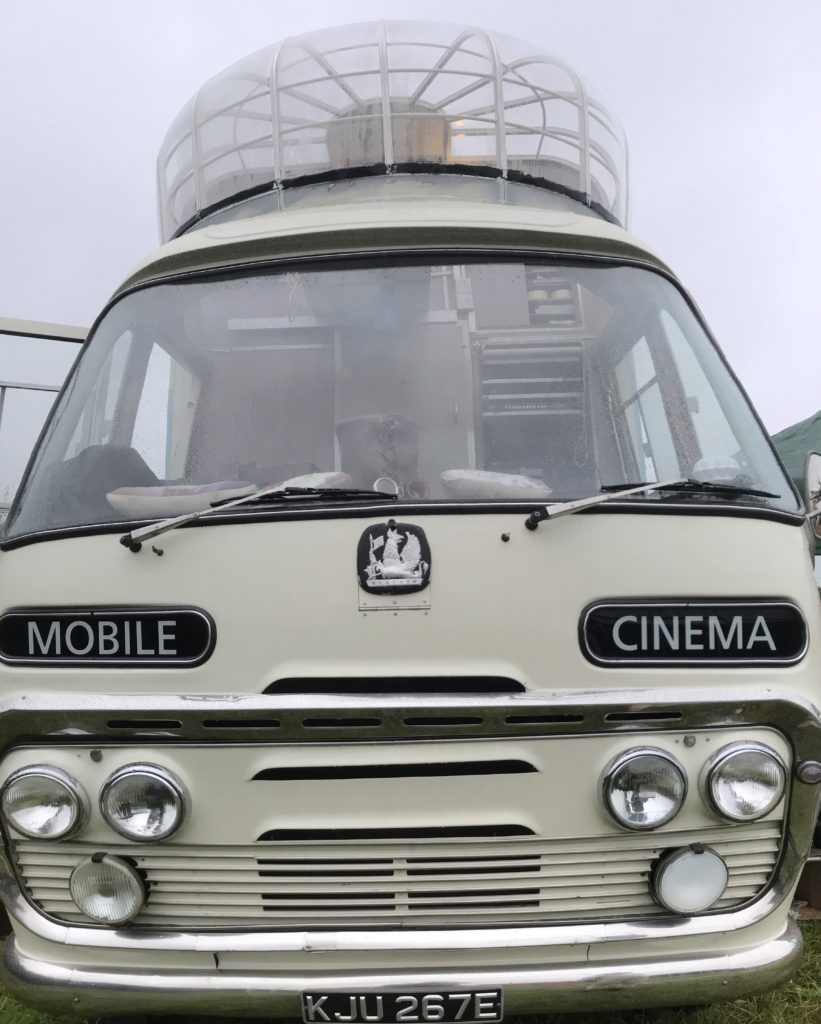 Vintage cinema bus, venue for Small Axe Film Festival