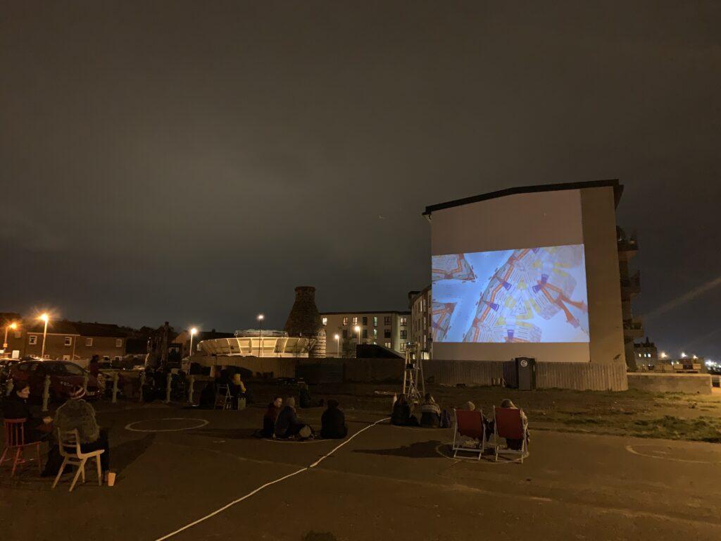 Open air cinema Portobello Promenade Edinburgh