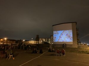 Open air cinema Portobello Promenade Edinburgh