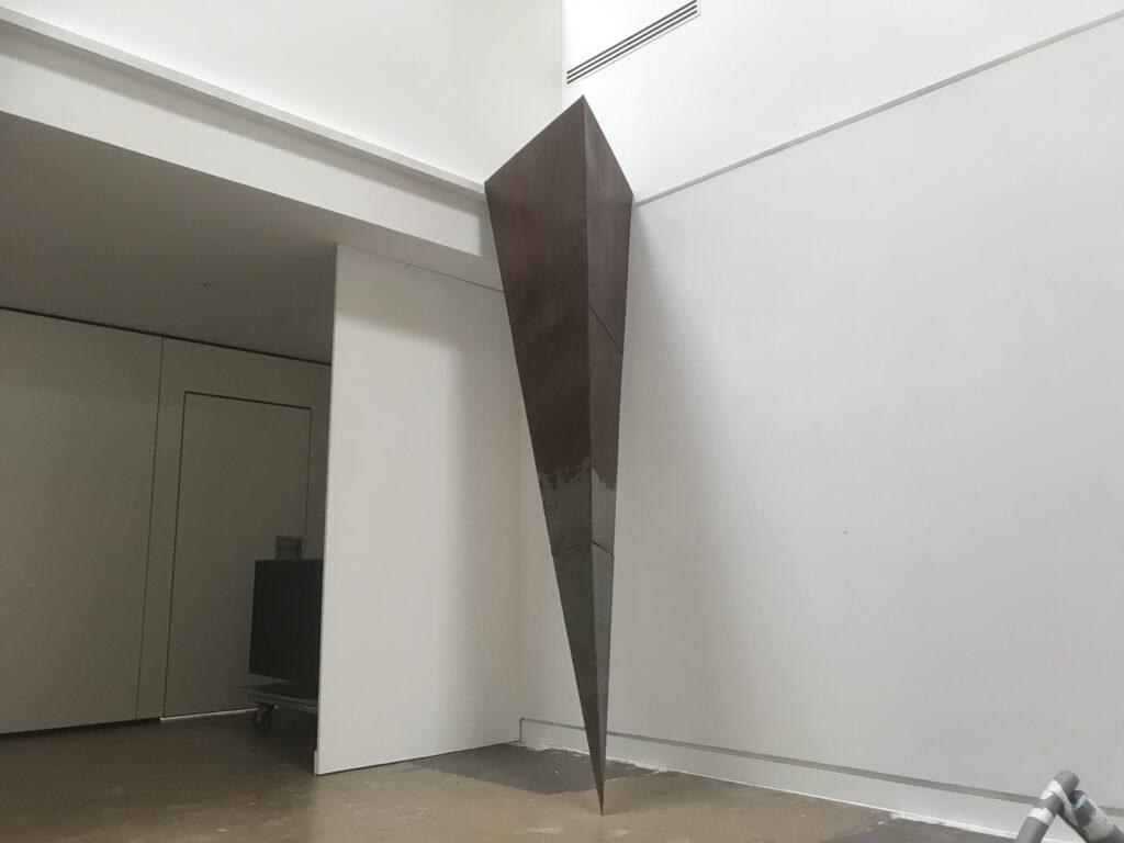 4 meter steel spike.