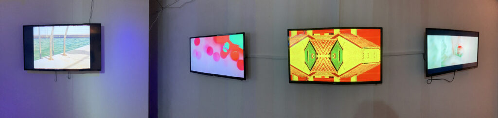 Video art screens Fringe Art Bath 2021