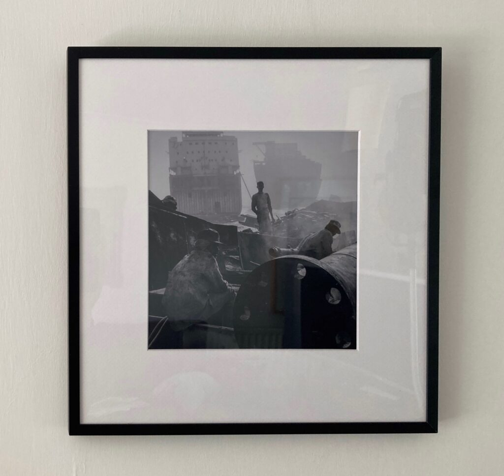 Framed print of ship breakers in Bangladesh